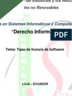 Tipos de Licencia de Software Derecho Informatico