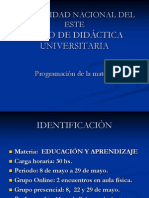 Prog. Educacion y Aprendizaje