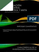 Investigación cuantitativa, cualitativa y mixta