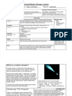 ITF-Perseid Meteor Shower Lesson Plan