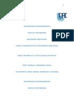 Fundamentos de Ingieneria Industrial-Informe de ARCELOR MITTAL