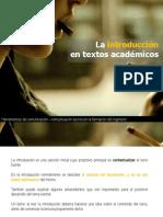 La Introduccion en Textos Academicos