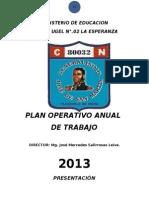 PLAN OPERATIVO 80032 GLMO. SAN MARTÍN