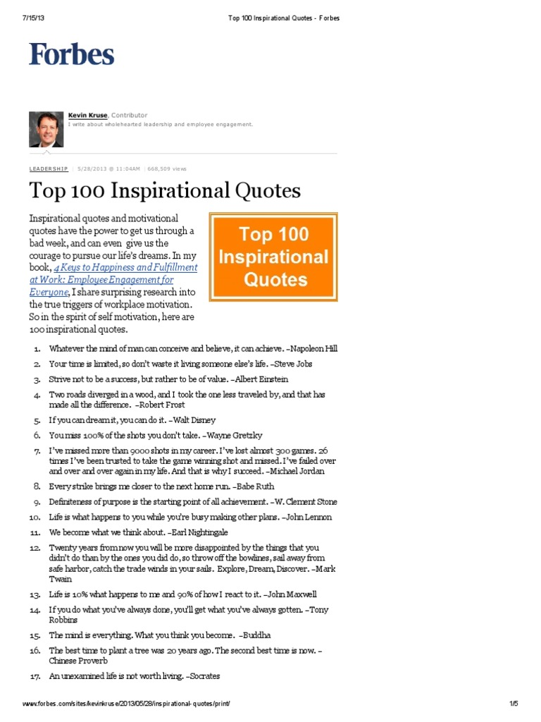 Forbes Quotes | Top 100 Inspirational Quotes Forbes Pdf Science Philosophical