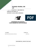 14. Contrato de Mutuo Con Garantia Hipotecaria