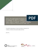 Informe sobre implementación del derecho a la consulta previa para medidas legislativas formuladas por el  Congreso de la República
