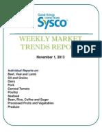 Weekly Market Trends Report 11.1.2013