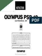 Olympus PSD-10 ESU - User Manual