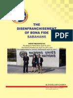 The Disenfranchisement of Bona Fide Sabahans