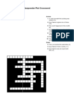 Gunpowder Plot Crossword