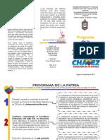 Triptico Programa de La Patria 2013-2019 Etica