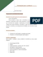 Orientações para professores 1