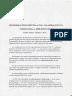 Recomendaciones Especificas Para El Trato Con Personas Deficientes Visuales