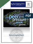 BUSINESS ENGLISH FINAL REPORT PEER PRESSURE.docx