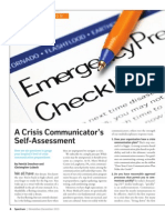 A Crisis Communicator's Self-Assessment