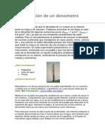 Construcción de un densímetro