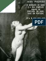 Jean Paulhan O Marques de Sade e a Sua Cumplice Hiena Editora 1992