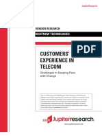 Customer Experience in Telecom