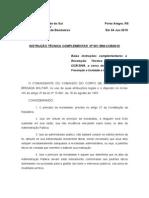 INSTRUÇÃO TÉCNICA Nº 001 BM-CCB- 2010
