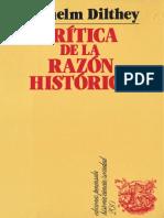 Wilhelm Dilthey  - Crítica de la razón histórica.pdf