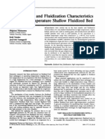 Heat Transfer and Fluidization Characteristics of a High-Temperature Shallow Fluidized Bed
