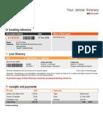 Your Jetstar Itinerary