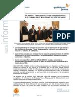 Contrato de concesión con Perú