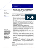 BSM, IT and business facilitation