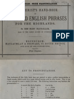 The Tourists Hand-book of Gaelic and English Phrases for the Highlands (1880)