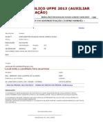 CONCURSO PÚBLICO UFPE 2013 (AUXILIAR EM ADMINISTRAÇÃO)