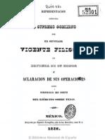 1836 Vicente Filisola en defensa de su honor y aclaración de sus operaciones como general en gefe del ejército sobre Tejas