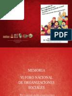 Memoria VI Foro Nacional de Organizaciones Sociales.pdf