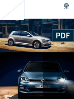 Volkswagen Golf Mark VII Brochure