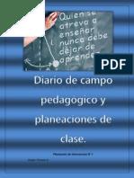 Diario de campo pedagógico y planeaciones de clase