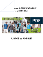 Plan de Trabajo de Coherencia PUCP a La FEPUC 2014