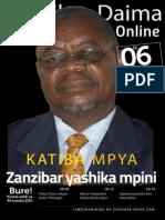 Zanzibar Daima Online. Toleo Namba 6
