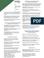 Elements menu
