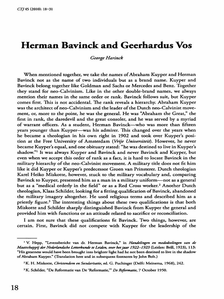 Bavinck and vospdf calvinism religious education fandeluxe Images