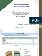 INFORME DE GESTIÓN 2013-2014 Secretaría General