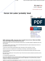 CNN.com - Karzai_ Bin Laden is Probably Dead