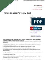 CNN.com - Karzai_ Bin Laden is Probably Dead