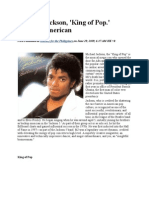 Michael Jackson African American