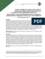 Estilos de Apego en preescolares de familias multiproblemáticas (estudio)