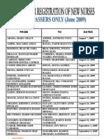 Nursingcrib.com June 2009 Prc-cebu Registration Schedule