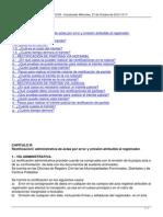 Rectivicacion Administrativa de Actas Por Error y Omision Del Registrador