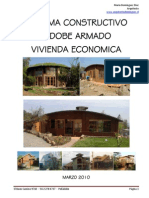 Sistema Constructivo Adobe Armado Vivienda Economica