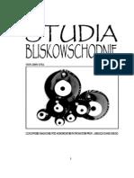 Studia Bliskowschodnie 1/2010