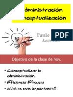 Administración Conceptualizacion (Paulo Duran Acevedo)