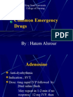 Common Emergency Drugs