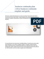 Using a business continuity plan template